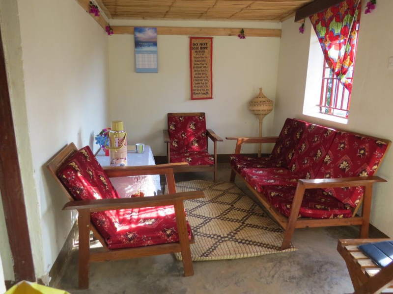Cottage lounge area