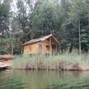 Zinnia treehouse on lake bunyonyi